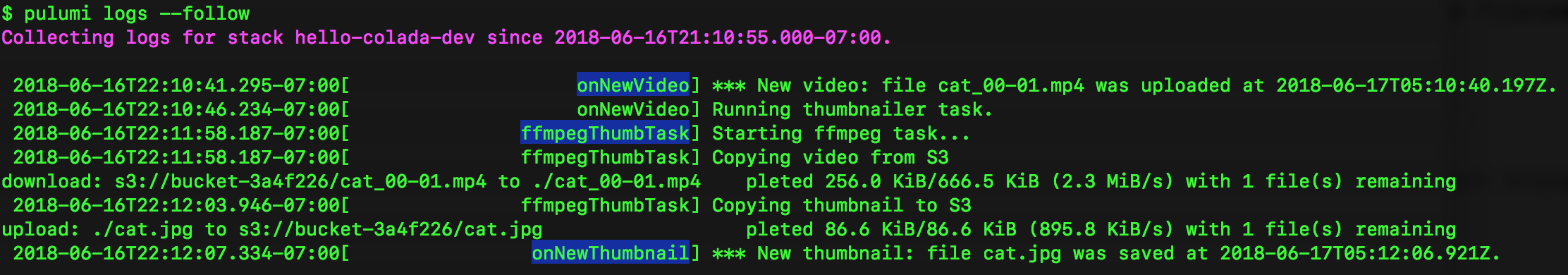 Build a Video Thumbnailer with Pulumi using Lambdas