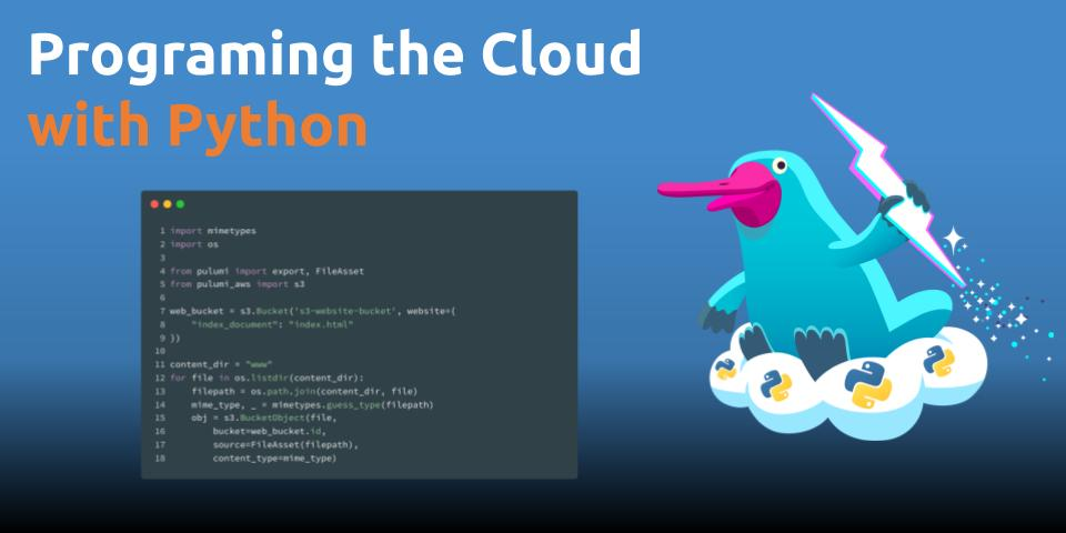 Programming the Cloud with Python