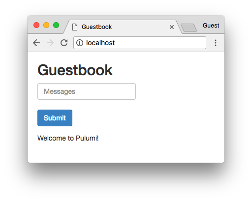 Guestbook in browser