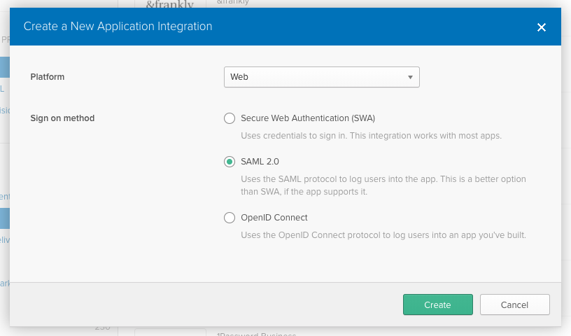 Creating an Okta Application