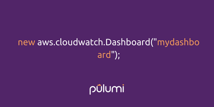 How to create an AWS CloudWatch monitoring service with Pulumi